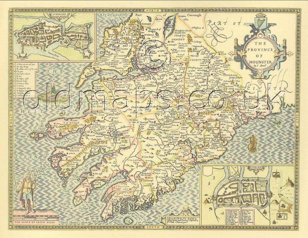 John Speed Old Map Full Size PRINT  UNIQUE GIFT Jamaica /& Barbados Replica 17c