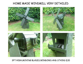 garden chairs tables windmill wheelbarrow wishing well