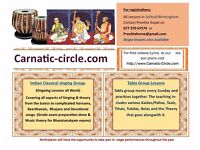 Indian Classical Carnatic Singing/Vocal music & Tabla Lessons -Solihull/Birmingham for all Ages