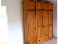 Solid Pine Quad Wardrobes in excellent condition