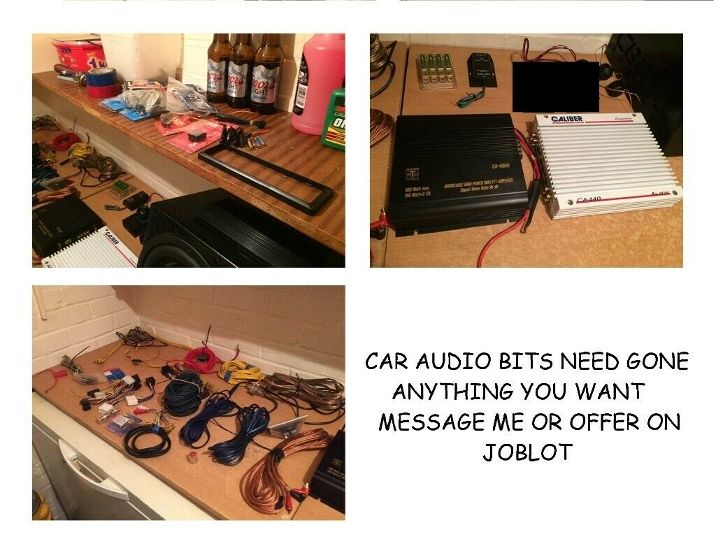 car audio wiring kits amps tweeters fuse box joblot