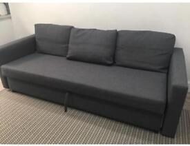 Ikea Friheten Skiftebo Dark Grey 3 seater sofa bed, with storage