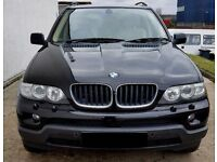 2005 BMW X5 3.0D AUTO BLACK WITH CREAM HEATED LEATHER-TV -SAT NAVIGATION-1 YEARS MOT(PART EX WELCOME