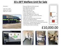 33 x 8FT Welfare Unit for Sale