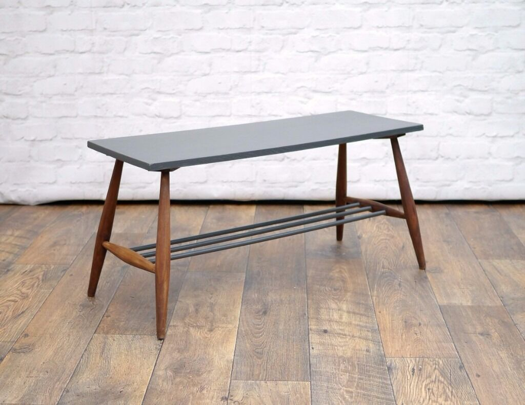 Vintage ercol style coffee table or bench for hall way