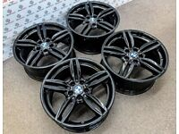"""GENUINE BMW 351 19"""" ALLOY WHEELS *AVAILABLE WITH TYRES* 5 x 120 - CRYSTAL BLACK - 2227"""