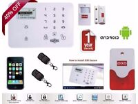 D3D D9 GSM Wireless Touchscreen Wifi Burglar Alarm System With 1 PIR, 1 Door Sensor