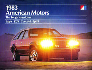 1983-AMC-Eagle-concorde-spirit-SX4-28-page-Car-Sales-Brochure-Catalog