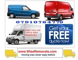 QUICK VAN/ MAN HOUSE OFFICE REMOVAL PIANO MOVERS LUTON DELIVERY COURIER COLLECTION RUBBISH CLEARANCE
