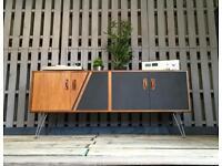 G plan sideboard media cabinet record vinyl