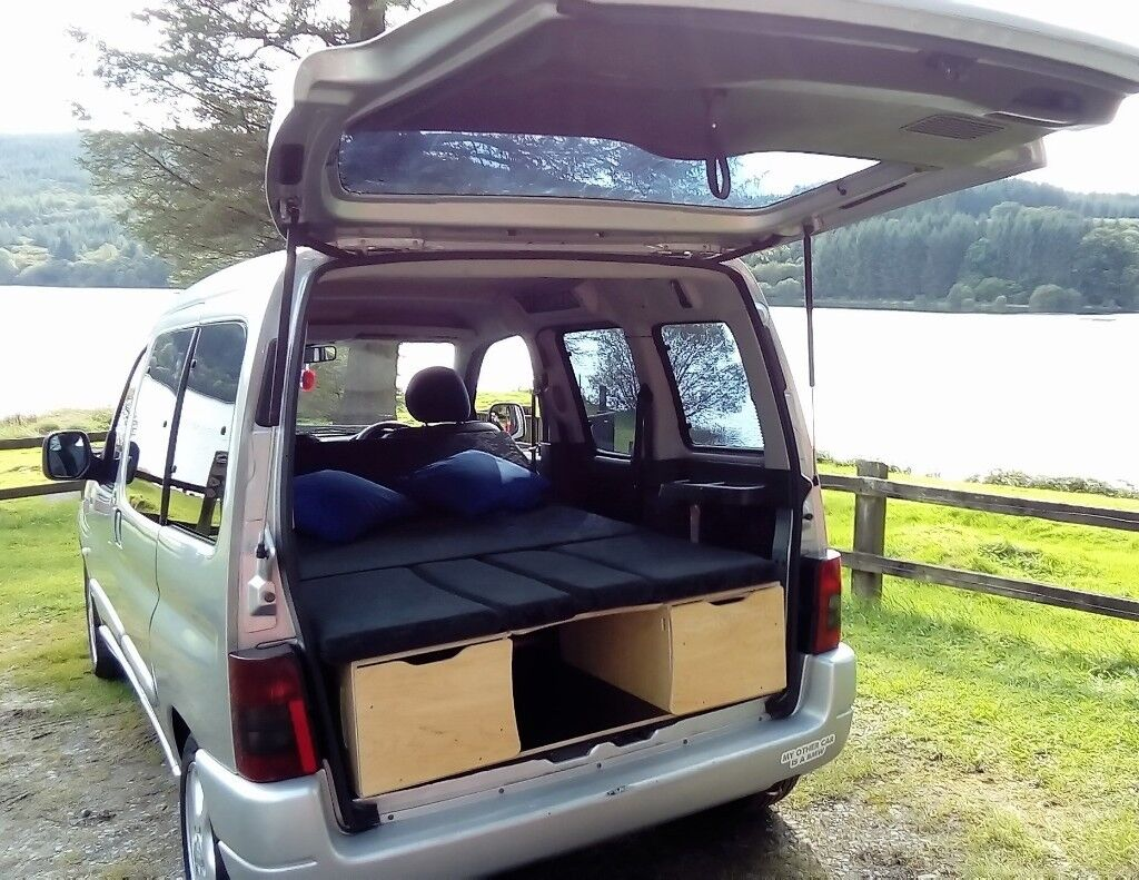stunning 4 in 1 citroen berlingo micro camper one lady. Black Bedroom Furniture Sets. Home Design Ideas