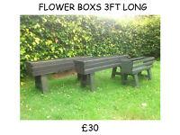 garden furniture flower boxes