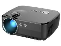 "HD Mini Portable Projector, Meyoung LED Pico Projector Gp70 Full Color 150"" 1200 Home Cinema 1080p"