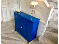 Blue Modern Sideboard Cabinet Console Table
