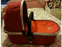 Icandy peach tomato carrycot & parasol