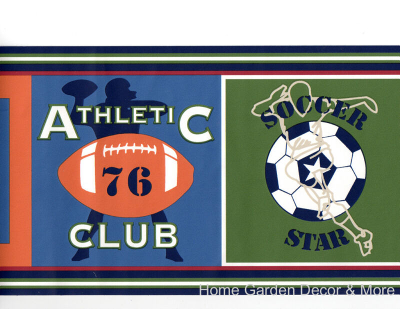 Athletic Club Team Sport Soccer Timberwolf Wall Border