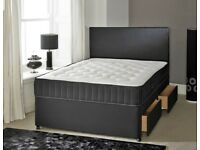 ✅✅Limited Stock!!Brand New Strong Double Divan Beds and Mattress Available