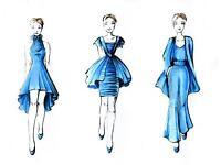 Vogue style fashion illustration
