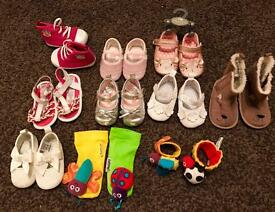 Baby Girls shoes bundle 0-6