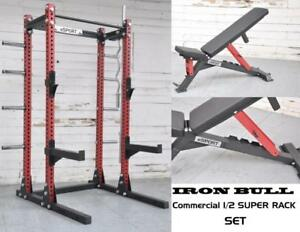 (FREE SHIPPING) BETTER THEN USA (R) BRAND New eSPORT IRON BULL 300 Laser cut 3 x 3 (Gage 11) Commercial Rack SET