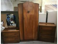 Vintage wardrobe,drawers and dresser set DELIVERY AVAILABLE