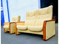 2+1 Himolla Stressless recliner sofa and chair DELIVERY AVAILABLE