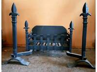 Cast & Wrought Iron Dog Grate