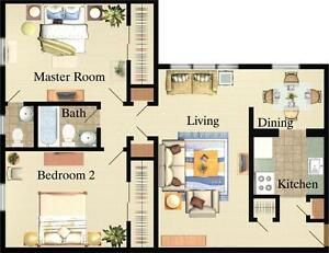 Large & Affordable 2 Bedroom, 2 Bathroom Apartments London Ontario image 4