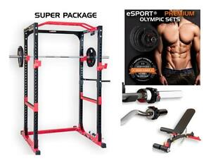 COMPLET SET NEW eSPORT BODYBUILDING POWER Cage SET es025A (2017) Cage with included options