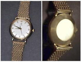Omega ( Swiss ) 9ct solid gold vintage 1959 men's auto wind watch
