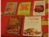 Job lot of cookbooks and gardening books