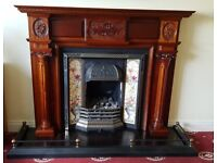 Fireplace and surround with hearth