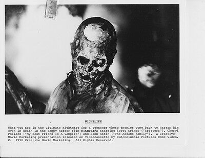 Skeleton Make Up (Skeleton w/make up effects VINTAGE Photo)