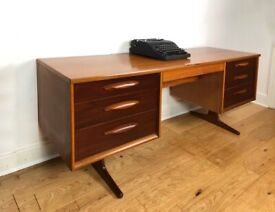 Mid-Century 1960s Teak Desk by Austinsuite FREE LOCAL DELIVERY