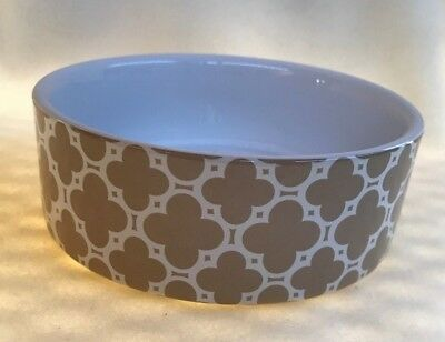 "PETRAGEOUS DESIGN 5"" STONEWARE DOG BOWL"