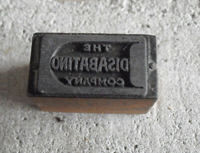 Vintage Disabantino Company Wood Metal Letterpress Print Block Stamp