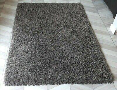 Dunelm taupe brown rectangular slumber shaggy rug 170x120cm