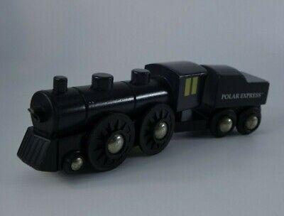 BRIO Polar Express Wooden Train Set Coal Tender Car 2pc Lot RARE Christmas 32501