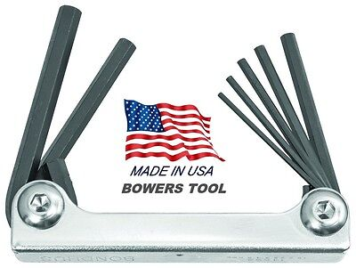 Bondhus Classic Steel Hex Fold Up Wrench Set Metric MM 1.5-6mm USA Metal 14592 Bondhus Steel Hex Wrench