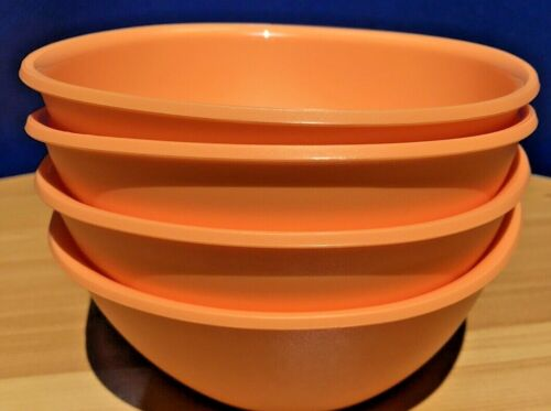 Set of (4) Genuine Tupperware New Legacy Pinch Cereal or Soup Bowls - 400ml NEW