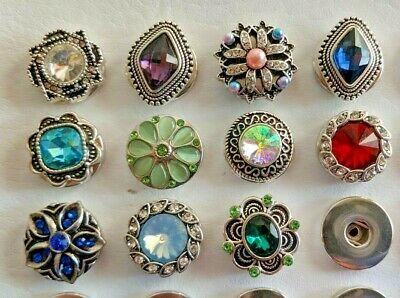 Snap Button Jewelry (Ginger Noosa Snap On Button 18mm Charms Fits  Bracelets Pendant Jewelry)