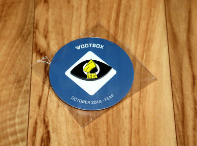 Little Nightmares 1 2 Wootbox October 2018 Fear Pin / Badge Collectible PS4 Xbox