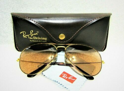 Ray-Ban USA Vintage B&L Aviator Tortuga Changeable Brwn L1712 Nr.Mint Sunglasses