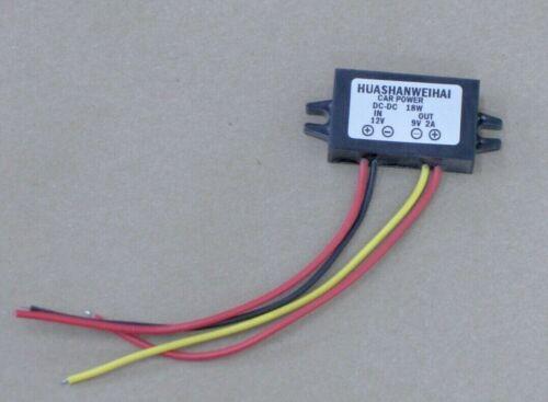 18W Car LED Power Supply DC 12V to 9V 2A DC-DC Converter Step Down Buck Module