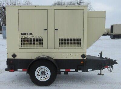 23 Kw Kohler John Deere Trailer-mounted Diesel Generator Jd Genset - 45 Hrs.