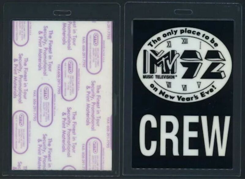 Rare 1992 MTV New Years Eve Concert Backstage Pass ALICE IN CHAINS Layne Staley