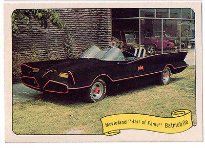 1974 FLEER KUSTOM CARS MOVIELAND HALL OF FAME BATMOBILE STICKER REPRINT - BATMAN