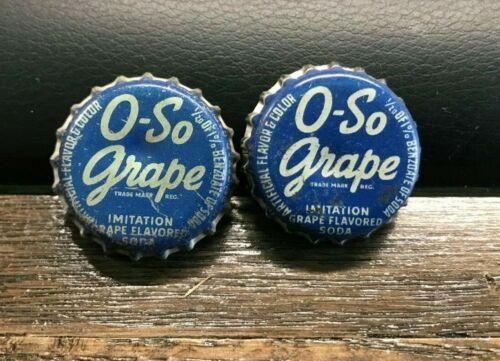 A) VINTAGE O-SO GRAPE SODA POP BEVERAGE CORK BOTTLE CAP / CROWN