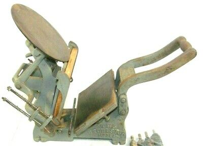 Kelsey Excelsior 5x8 Model D Mercury Letterpress Printing Press Chase Rollers