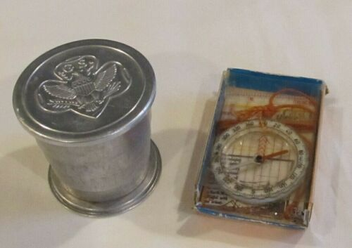Vintage Girl Scout Cup and Compass